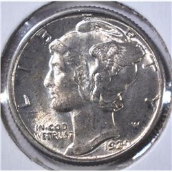 1929 MERCURY DIME  GEM BU FSB  ROTATED