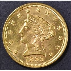 1899  $2.5 GOLD LIBERTY  BU