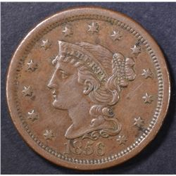 1856 LARGE CENT  XF/AU  BROWN
