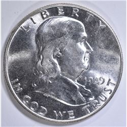 1949 FRANKLIN HALF DOLLAR  GEM FBL