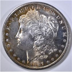 1881-S MORGAN DOLLAR  GEM BU DMPL