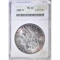 1886 MORGAN DOLLAR   ANACS  MS-65