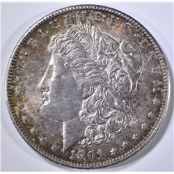 1901-S MORGAN DOLLAR  BU  OLD CLEANING