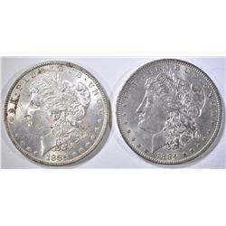 1884-O & 85 CH BU MORGAN DOLLARS
