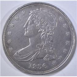 1836 REEDED EDGE BUST HALF DOLLAR AU