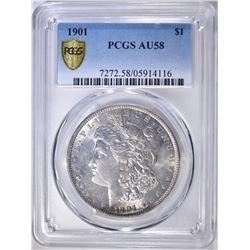 1901 MORGAN DOLLAR PCGS AU-58