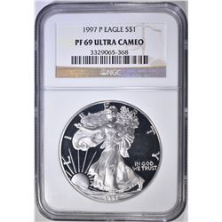 1997 AMERICAN SILVER EAGLE, NGC PF-69 ULTRA CAMEO