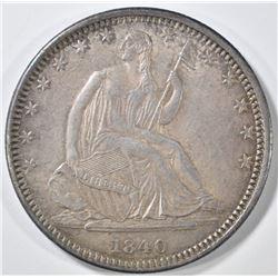 1840-O SEATED LIBERTY HALF DOLLAR  CH AU