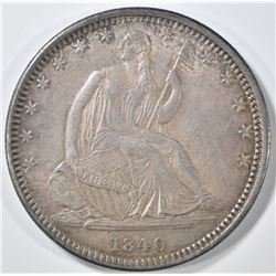 1840-O SEATED LIBERTY HALF DOLLAR  CH AU