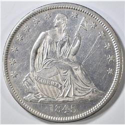 1845-O SEATED HALF DOLLAR  BU  LIGHT SCRATCHES