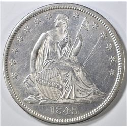 1845-O SEATED HALF DOLLAR  BU  LIGHT SCRATCHES