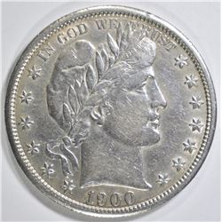1900-S BARBER HALF DOLLAR   XF/AU
