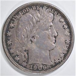 1906-D BARBER HALF DOLLAR  CH AU