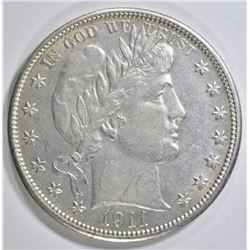 1911-D BARBER HALF DOLLAR  CH AU