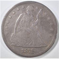1872 SEATED DOLLAR  XF