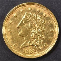 1838-C $2.5 GOLD CLASSIC HEAD  BU