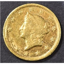 1849-D GOLD DOLLAR  XF/AU