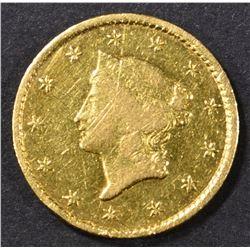 1849-C GOLD DOLLAR  AU MARKS