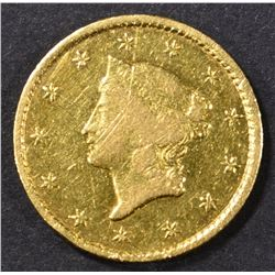 1849-C GOLD DOLLAR  AU MARKS