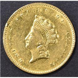 1855-O GOLD DOLLAR  AU