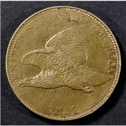 1857 FLYING EAGLE CENT CH AU