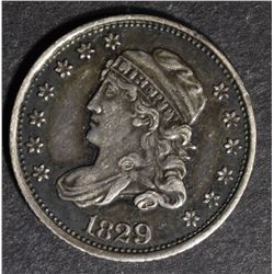 1829 BUST HALF DIME, AU+ SEMI-PL SURFACES