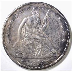 1855-O SEATED LIBERTY HALF DOLLAR AU