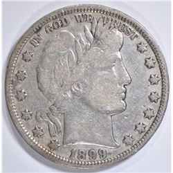 1899 BARBER HALF DOLLAR VF