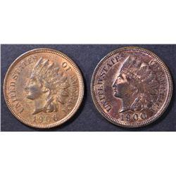 1900 BU RB & 1906 AU/BU INDIAN CENTS