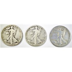 1919-P,D,S WALKING LIBERTY HALF DOLLARS GOOD