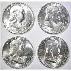 4-1953 CH BU FRANKLIN HALF DOLLARS