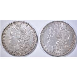 1878 7TF XF & 80-O CH AU MORGAN DOLLARS