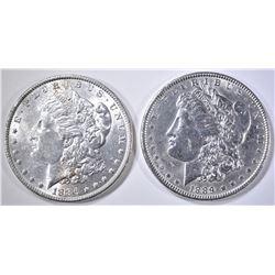 1886 & 1889 BU MORGAN DOLLARS