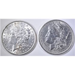 1886 & 1889 BU MORGAN DOLLARS