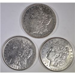 3-AU/BU MORGAN DOLLARS: 1888, 1900 & 1902-O