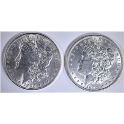 2-BU 1896 MORGAN DOLLARS