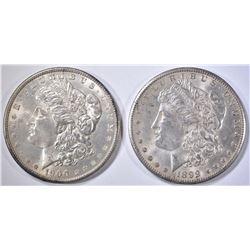 1899-O & 1900 CH BU MORGAN DOLLARS