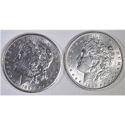 1896 & 1899-O BU MORGAN DOLLARS