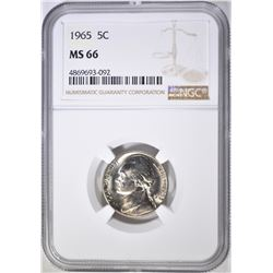 1965 JEFFERSON NICKEL NGC MS-66