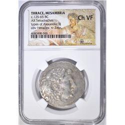 125-65 BC TETRADRACHM THRACE, MESAMBRIA