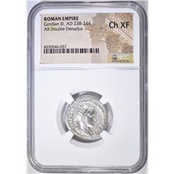 238-244 AD DOUBLE-DENARIUS ROMAN EMPIRE