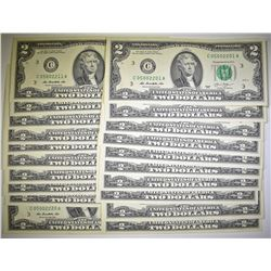 20-2013 $2.00 FRN CONSEC. NUMBERS, CU