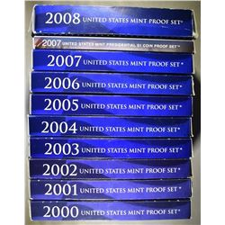 U.S PROOF SETS FROM THE 2000.S