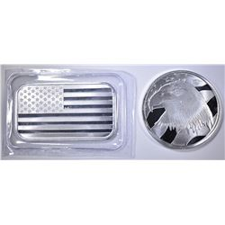 AMERICAN FLAG, PLEDGE OF ALLEGIANCE SILVER Pcs
