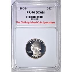 1980-S WASHINGTON QUARTER TDCS PERFECT GEM PR DCAM