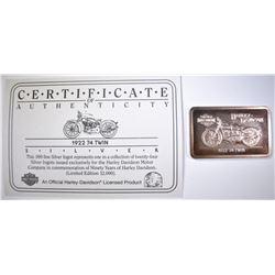 1922 74 TWIN HARLEY SILVER BAR