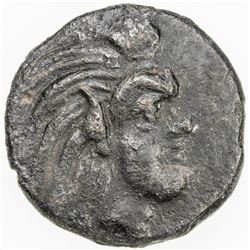 CHERRONESOS: Anonymous, ca 325-300 BC, AE dichalkon (2.81g), Pantikapaion. VF