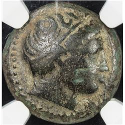 MACEDONIAN KINGDOM: Phillip II, 359-336 BC, AE unit. NGC VF