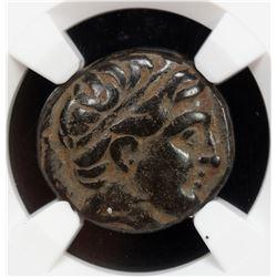 MACEDONIAN KINGDOM: Phillip II, 359-336 BC, AE unit, ND. NGC VF
