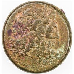 PTOLEMAIC KINGDOM: Ptolemy III Euergetes, 246-222 BC, AE triobol (30.64g), Alexandria mint. F-VF